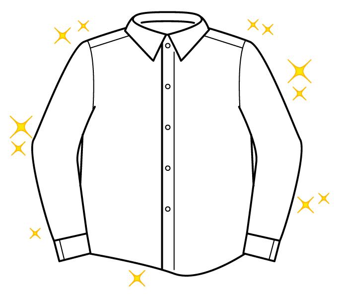 シミがない綺麗なシャツのイラスト